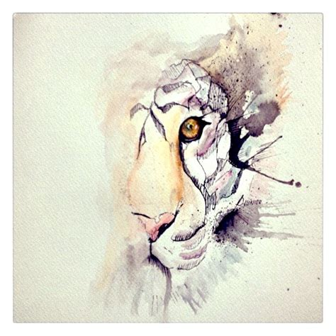 watercolor tiger tattoo idea s amp inspirations