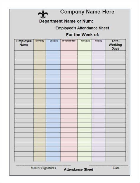 Employee Attendance Sheet Excel 2018 Tracker System Calendar Office Calendar Template Sheets