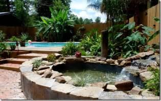 Backyard Pond Ideas With Waterfall A Walk In The Countryside Backyard Pond With A Waterfall