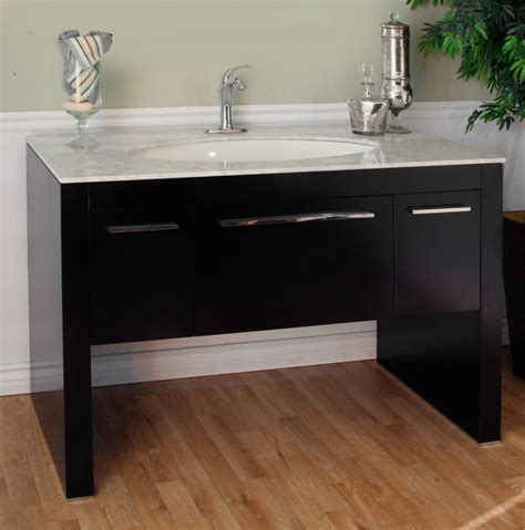 55 3 inch single sink bathroom vanity with walnut