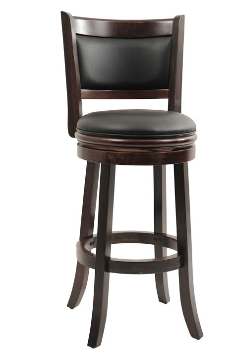 Wood And Leather Bar Stools by Solid Wood Stool Bar Height Bar Stool Swivel Stool Kitchen