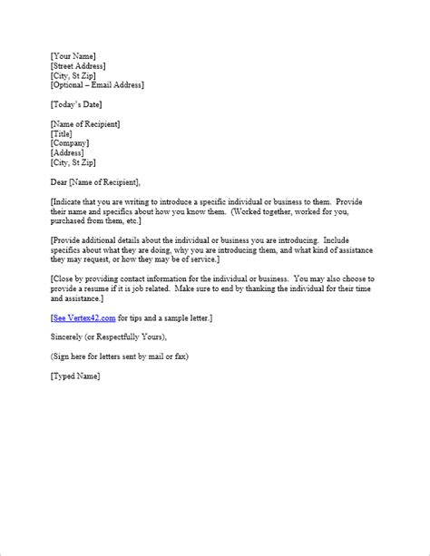 Introduction Letter To Bank For Business Free Letter Of Introduction Template Sle Introduction