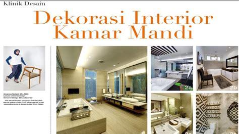 design interior binus dekorasi interior kamar mandi