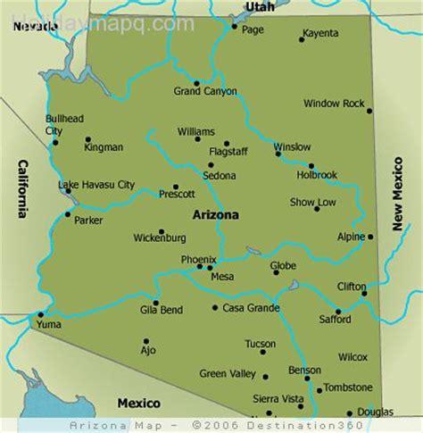 printable map arizona free map of arizona holidaymapq com