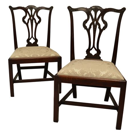 antique mahogany side chairs pair of antique georgian mahogany side chairs