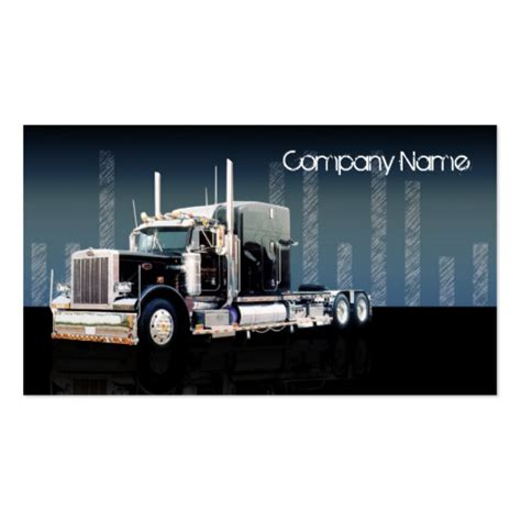 truck driver business cards page4 bizcardstudio