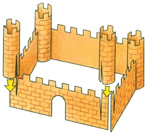 How To Make A Paper Castle Easy - how to make paper castles for howstuffworks