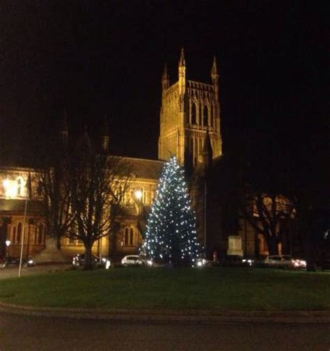 beautiful view of majestic worcester cathedral at
