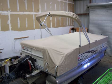 custom boat covers - Snap Down Pontoon Boat Covers