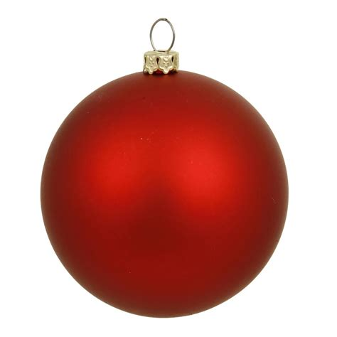 christmas balls 6 inch matte finished uv shatterproof christmas ball red