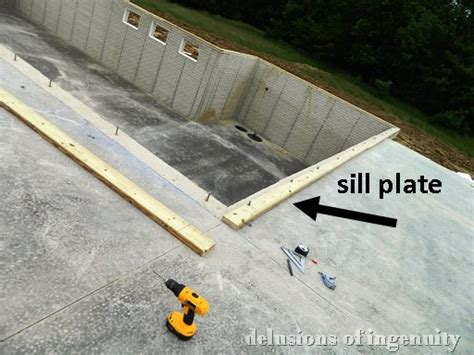 basement sill plate delusions of ingenuity sill plate load bearing walls
