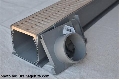 nds 3 in plastic channel drain kit 3 drainage kit w slotted plastic grate by nds