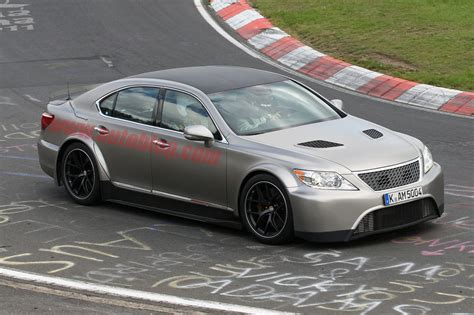 widebody lexus ls widebody lexus ls spotted on the nurburgring automotorblog