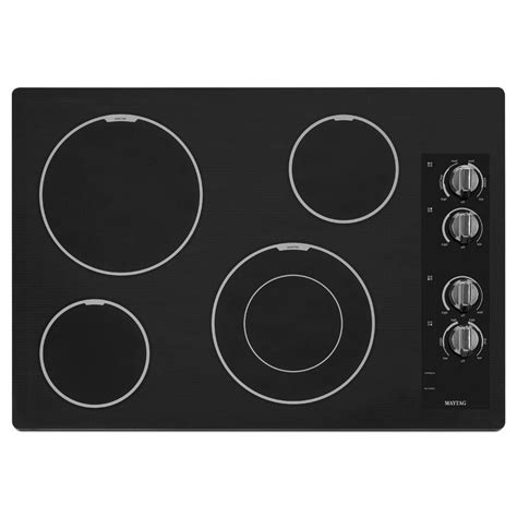 Ceramic Glass Cooktop Maytag 30 In Ceramic Glass Electric Cooktop In White With