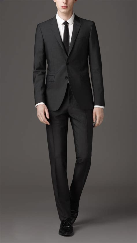 Lyst Burberry Slim Fit Wool Mohair Suit Gray Men