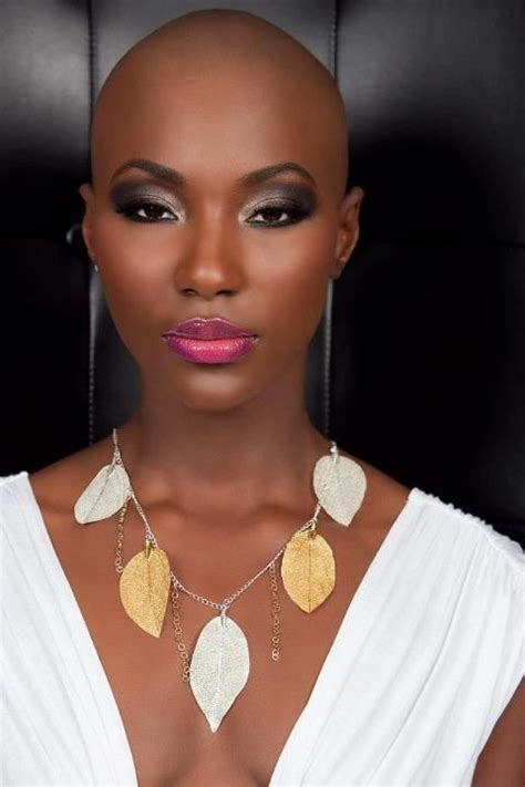 beautiful black bald women with leak bald beauty pinterest beautiful black women and