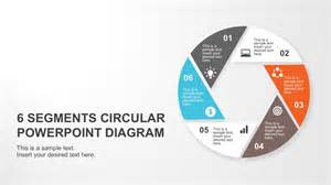 Diagram Template Powerpoint 6 segments circular powerpoint diagram