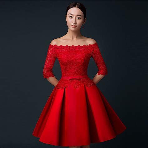 short evening dresses   fashion women elegant red