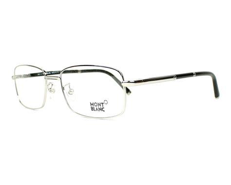 Montblanc Mb07 Silver Black mont blanc eyeglasses mb 484 u 016 silver visionet