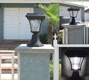 outdoor l posts base 1 solar fence gate l post light 4 leds for wood