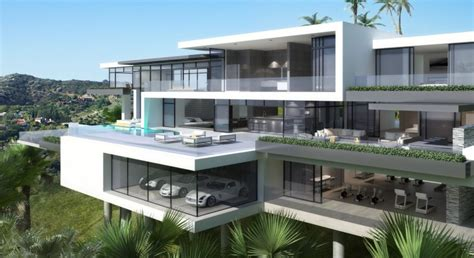 New England Style Home Plans by Two Modern Day Mansions On Sunset Plaza Drive In La
