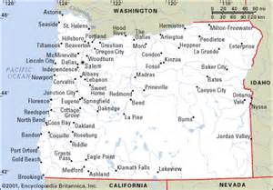 map of cities in oregon shipping to oregon