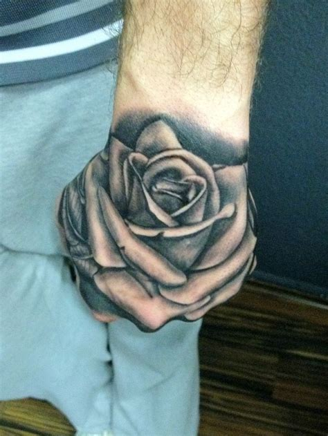 31 best rose hand tattoos images on pinterest rose hand
