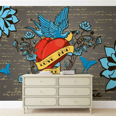 mural tattoo school wall paper mural buy at
