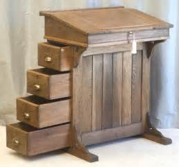 Small Antique Desks For Sale Antique Oak Clerks Desk Or Lectern Drawers To One Side And Shelved Cupboard To The Other