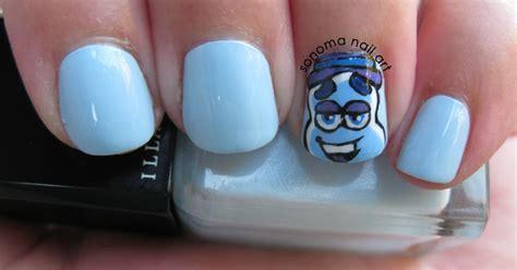 sonoma nail art  day challenge blue