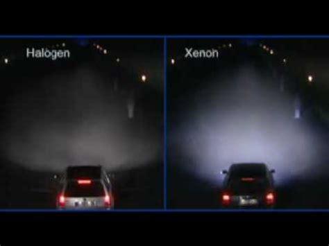 xenon vs. halogen youtube