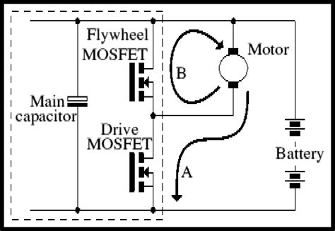 protection diodes for dc motors mosfets as freewheel diodes