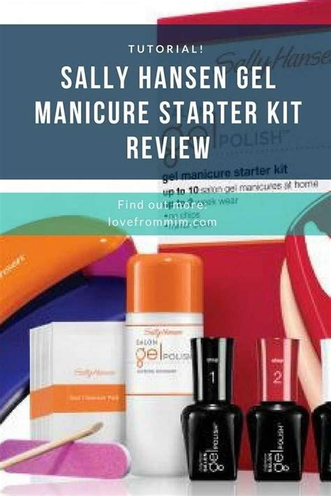 Gel Nail L Kit by Sally Hansen Gel Manicure Starter Kit Review Tutorial