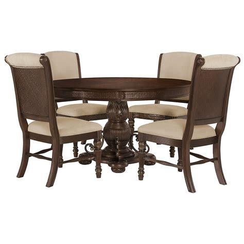 table with upholstered chairs city furniture tradewinds tone table 4