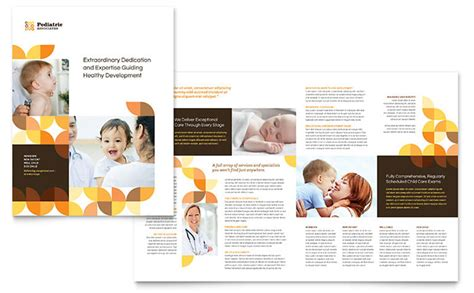 Pediatric Doctor Brochure Template Word Publisher Free Pediatric Brochure Templates