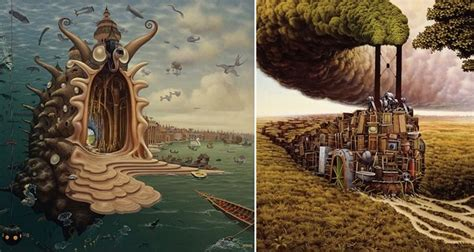 Yerka Paints Like An by 15 Surreal And Mind Bending Works By Painter Jacek