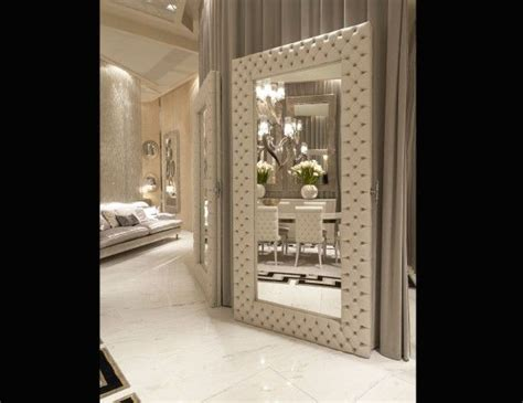 luxe italian designer tufted leather floor mirror custom 32 best images about neo gothic interiors furniures on