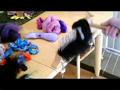using a blending hackle and 2 pitch comb youtube