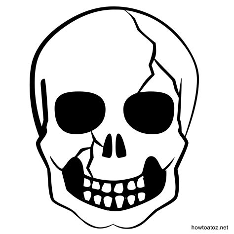Best Photos Of Skull Outline Template Sugar Skull Felt Skull Cut Out Template