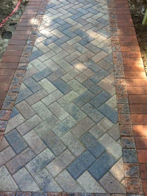 Ideas For Brick Sidewalk Design Best 25 Paver Walkway Ideas On Backyard Pavers Front Sidewalk Ideas And Front