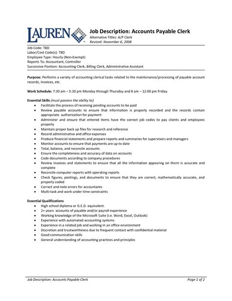 accounts receivable resume objective 28 images