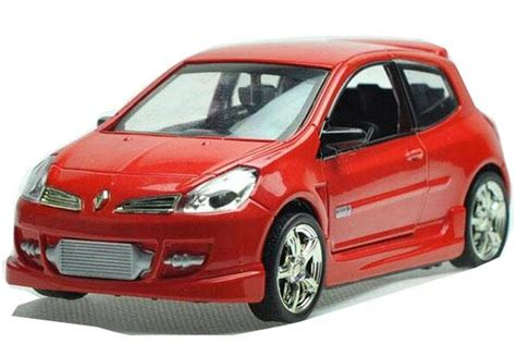 renault kid kids 1 32 scale yellow red blue diecast renault clio