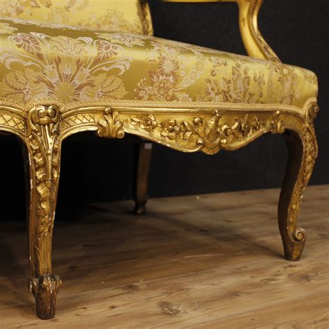 golden sofa antique french golden sofa 1880s for sale at pamono