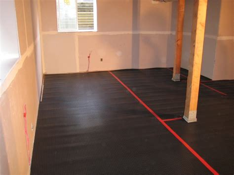 superseal s all in one subfloor installation in a basement