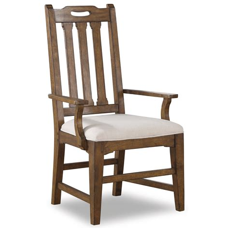 Bright Dining Chairs Flexsteel Wynwood Collection Sonora W1134 843 Mission Upholstered Arm Dining Chair With Slat