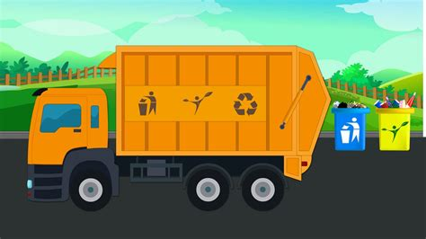 truck kid channel garbage truck vehicles