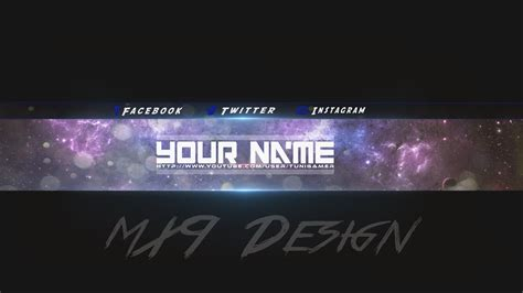 speedart free amazing youtube channel banner template 3