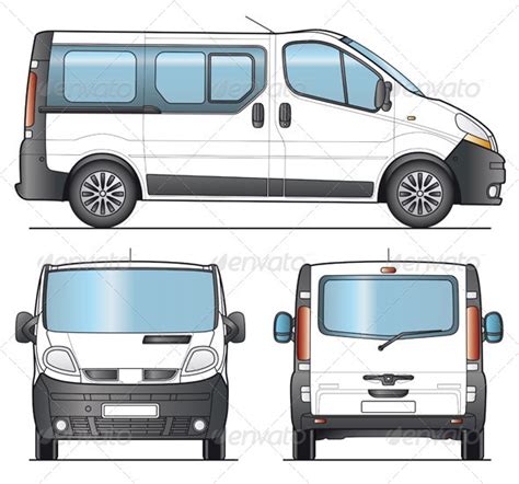 van layout vector minibus minivan combi template by faberfoto graphicriver