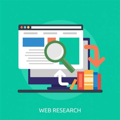 Web Researcher by Web Research Background Design Vector Free