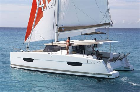 sailboats with two hulls fountaine pajot lucia 40 sailing on two hulls just became